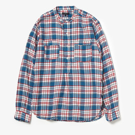 Engineered Garments - BANDED COLLAR SHIRT - RODEO FLANNEL