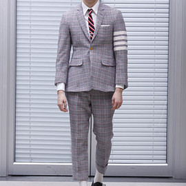 THOM BROWNE - plaid suit with flared shade: Thom Browne Fall 2009