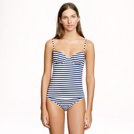 J.CREW - Sailor-stripe underwire swing top