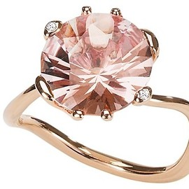 Christian Dior - Oui morganite pink gold ring