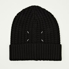 MAISON MARTIN MARGIELA - 10 Men's Black Chunky Knit Hat
