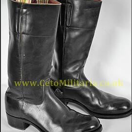 VINTAGE - British Army Officer's Dress Wellington Boots
