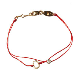 H.P.FRANCE BIJOUX - red line 10th anniversary Bracelet