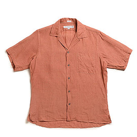 INDIVIDUALIZED SHIRTS - Athletic Fit Camp Collar Shirts S/S-Rust