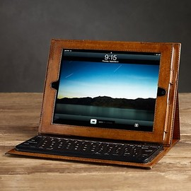 Restoration Hardware - Artisan Leather iPad2® Cover with Bluetooth® Keyboard Chestnut