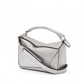 LOEWE - Puzzle Small Embossed Metallic Leather Shoulder Bag