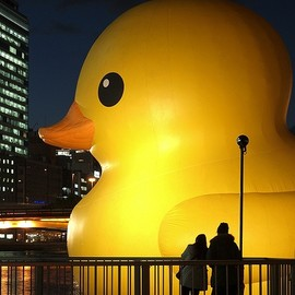 Osaka, Japan - Rubber duck in Osaka, Japan