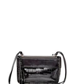 PROENZA SCHOULER - SS2015 Crocodile And Shiny Calf Black Z Crossbody