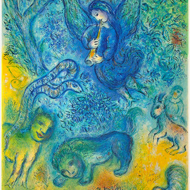 Marc Chagall - Chagall Lithograph Signed, The Magic Flute, 1967