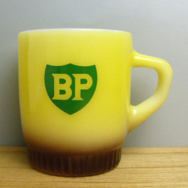 Fire King - BP ribbed advertising mug