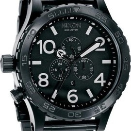 NIXON - THE 51-30 CHRONO ALL BLACK NA083001-00