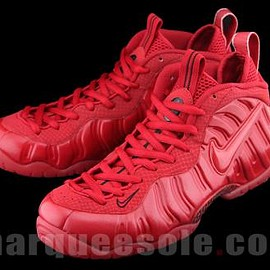 Nike - NIKE AIR FOAMPOSITE PRO GYM RED/GYM RED-BLACK