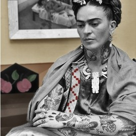 Cheyenne Randall - Frida Kahlo | Shopped Tattoos inks up pop-cultural icons
