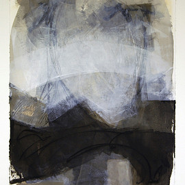 Passages 2, 2013, oil and cold wax on paper