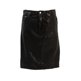 beautiful people - shrink leather tight skirt