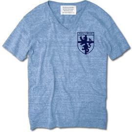 INDUSTRIAL SUITE - CROSS LION EMBLEM V NECK TEE【AUTHETIC BLUE】