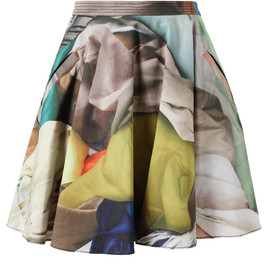 CHALAYAN - Fabric Printed Cotton Skirt