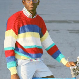 American Apparel - Stripe Fisherman Sweater
