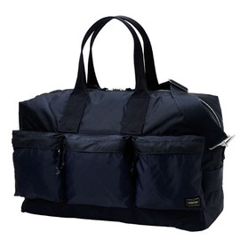"Porter - Navy Blue ""Force"" 2 way-duffle bag"