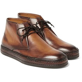 Berluti - Polished-Leather Desert Boots