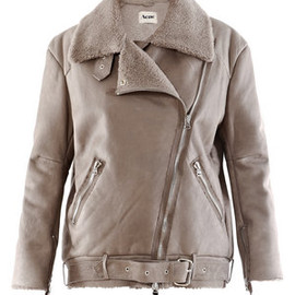 acne - VELOCITE LEATHER AND SHEARLING JACKET