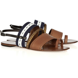 Proenza Schouler - Leather and canvas sandals