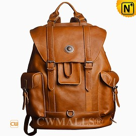 CWMALLS - CWMALLS® Tanned Vintage Leather Backpack CW908001 [Patented Product, Custom Made]