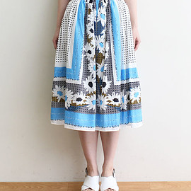 Dot and Stripes CHILD WOMAN - 50ボイル スカーフプリントスカート