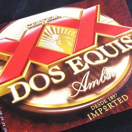 Luulla - CERVESA BEER Mexican Dos Equis notebook journal recycled Made from an actual 6 pack container