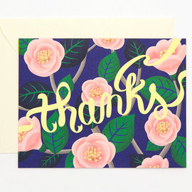Clap Clap - Pink Camellia thank you card - thanks