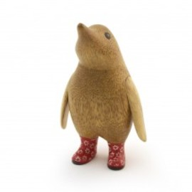 dcuk - Natural Welly Baby Penguin - Red Flowers