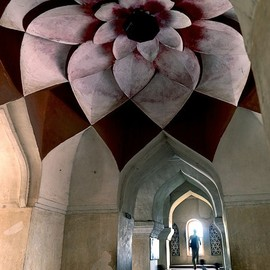 Tanjore Palace,India - Lotus ceiling