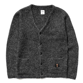 BEDWIN & THE HEARTBREAKERS - Godard Mohair Knit Cardigan - Dark Charcoal?