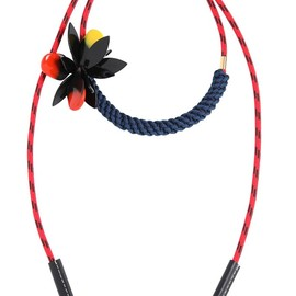MARNI - FLOWER ON TECHNO CORDING NECKLACE