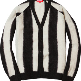 SUPREME - Striped Mohair Cardigan