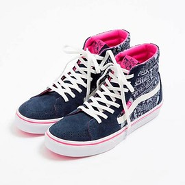 VANS - X-GIRL × VANS SK8-HI DRAWING LOGOS NAVY