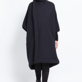 Rick Owens - Rick Owens Lilies Quilted Sail Coat (Black Quilt)