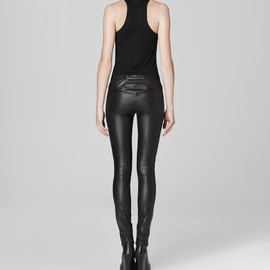 HELMUT LANG - stretch leather legging
