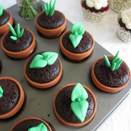 mimicafeunion - Sweet Sprout Cupcake Toppers