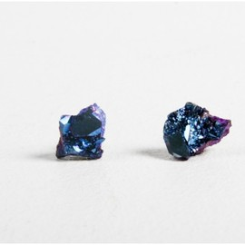 a.ok - blue crystal earrings