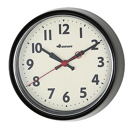 DULTON - WALL CLOCK BLACK