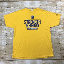 Golden State Warriors - Golden State Warriors Strength in Numbers 2015 Conference Semis Promo Shirt Mens Size XL