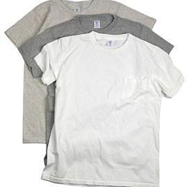 Velva Sheen - CREW NECK POCKET T (2puc)