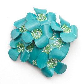 the V&A Shop - Flower Cluster Brooch by Cilea (Jade)