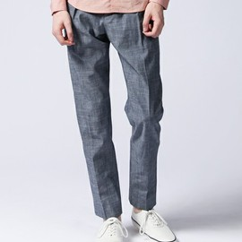 CARVEN - PANTALON LARGE CHAMBRAY TROUSERS