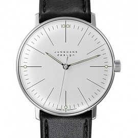 JUNGHANS - MAX BILL HANDWINDING MECHANICAL 34MM WATCH 027/3700.00