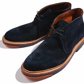 ALDEN - NAVY SUEDE CHUKKA BOOT for BLUE BLUE