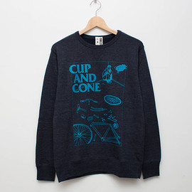 cup and cone - Wasted Heather Sweat - Navy