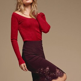 Victoria's Secret -  Pointelle Boatneck Sweater