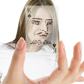 MollaSpace - See-Through Poker Face Cards